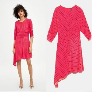 Re-posh! Zara trf polka dot dress